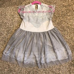 Other - Gray Lace Toddler Dress